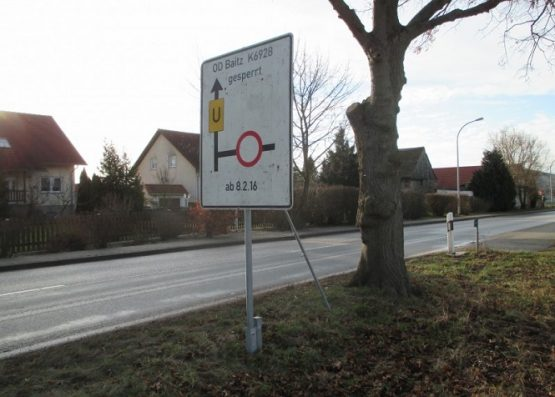 Verkehrsbeschilderung